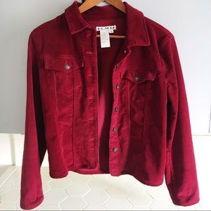 🍒VTG Cherry Red Corduroy Jacket